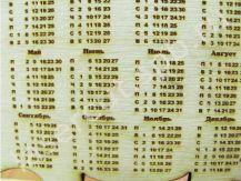 Календарь из фанеры