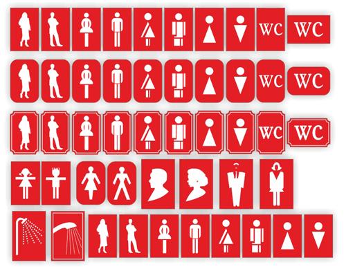 таблички для туалета
