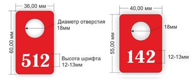 размеры номерков для гардероба